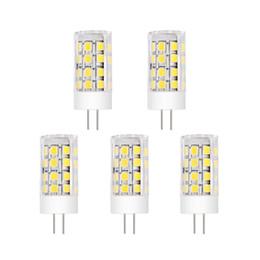 5pcs, G4 Base LED Bulb, 5W (40W Halogen Equivalent), 12V AC DC, Warm Soft White 3000K, 400lm, 360 Degree Beam Angle,Energy Saving and Bright