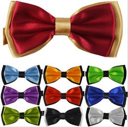 2017 New Fashion Solid color double-layer New Novelty Men's Unique Tuxedo Bowtie Bow Tie Necktie