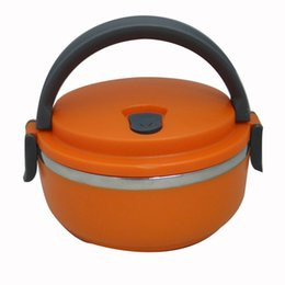 Wholesale Stainless Steel Vacuum Round Lunch Box Single Layer Kids Keep Warm Food L Container For School Office Bento Box