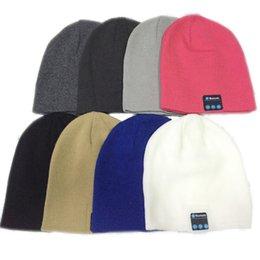 Wholesale Bluetooth Music Soft Warm Beanie Hat Cap with Stereo Headphone Headset Speaker Wireless Mic Hands free for Men Women