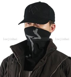 Wholesale-Watch Dogs Aiden Pearce Cap Scarf Face Mask Set Cosplay Game Costume Cap