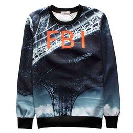 2015 autumn fashion mens 3D hoodie sweatshirt FBI letter print sweatshirt bridge printed harajuku sweatshirts for men women