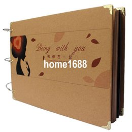 Wholesale vintage diy honded baby photo album photo album handmade gift corner posts
