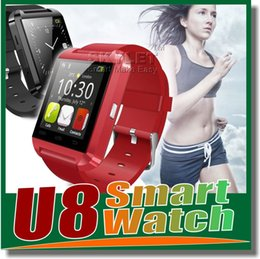 Wholesale Smart phone U8 Smart Watch Newest U Watch High Quality Smartwatch with Phonebook Call MP3 Alarm S Samsung S5 NOTE Andriod Cell Phone