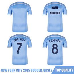 Wholesale Whosales Discount New York City FC2015 Soccer Jerseys New York City Soccer Jersey Football Shirts custom soccer Uniforms