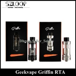 Wholesale Authentic GeekVape Griffin RTA Black SS ml Top Refilling Rebuidable Tank Atomizer with Velocity Style Deck vs Avocado RTA