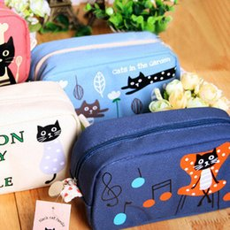 Wholesale-Pencil case big pencil case cartoon stationery pencil case canvas pencil bags 4506