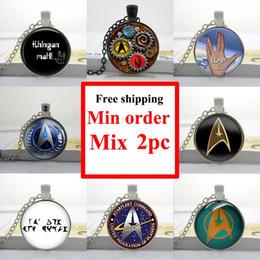 Wholesale Star Trek Necklace Star Trek Pendant Necklace best friend gift Glass Photo Cabochon Necklace