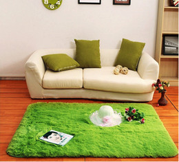 Wholesale Floor Rug Soft Solid Anti skid Carpet Living Dining Bedroom Flokati Shaggy lanital Mat Rug High Quality