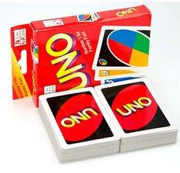 Wholesale Stock prêt de jeux UNO cartes de poker carte de divertissement amusant jeu famille édition standard Enfants drôle de jeu de puzzle par DHL