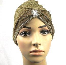 Wholesale Muslim head Scarfs Wedding Muffer Bandana Wrap Muslim Under Scarf Hat headgear Shimmering silk wrap