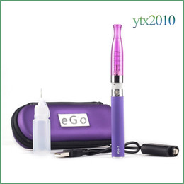 Wholesale GS H2 EGo T Zipper Case Electronic Cigarette Starter kit ml H2 atomizer Replaceable Coil ohm EGO T ECIG Battery
