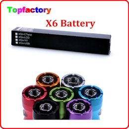 Wholesale X6 Battery for EleCtronic Cigarette Various Color Battery mAh recharger Battery Suit f cor Ego Series Free DHL