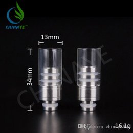 Wholesale The best news pyrex glass flat Drip Tips SS drip tip for Clearomizer Dirp Tips Chinaye