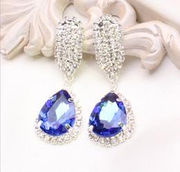Mariage met en vente en Ligne-Grosses soldes!! Cheap 2016 Nouvelle Arrivée Bleu Bleu Vert Vert Boucles d'oreilles perles nuptiales pour le mariage Set de bijoux Accessoires Vente en gros 3pcs / 1