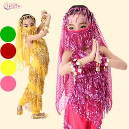 Belly Dance Costume Set Kids Child Belly Dancing Clothes For Girl Children Wear 4 Colors for Chosen