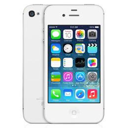 Écrans 4s en Ligne-Original 64 Go Apple iPhone 4S IOS 8 double cœur A5 3.5 pouces écran Retina 960 * 640 3G WCDMA simple micro carte SIM 8.0MP caméra Smart Phone