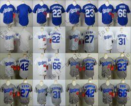 Wholesale Dodgers Youth Jersey Clayton Kershaw Adrian Gonzalez Matt Kemp Joc Pederson Jackie Robinson Yasiel Puig Kid Size S M L XL