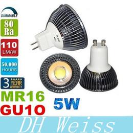 COB 5W GU10 Led Spotlights 120 Angle Dimmable 12V MR16 Led Bulbs Light Led Lamp Warm Natrual Cold White AC 110-240V 12V