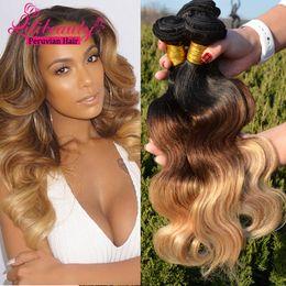 3tone Tissage Peruvian Ombre Body Wave Virgin Hair 3 Bundle Deals Peruvian Body Wave Ombre Hair Extensions 1b 4 27 30 Human Hair