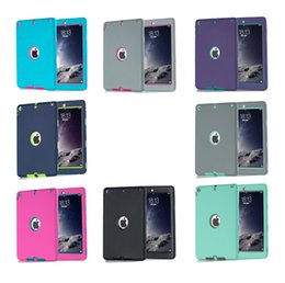 Wholesale Defender Armor shockproof Robot Hard cover Case military Extreme Heavy Duty silicone cover for ipad air