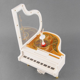 New Cute Lovely Dreamer White Piano Dancer Dancing Alice Ballet Girl Music Musical Box Toy Valentine's