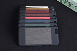 Wholesale Luxury Natural Wooden Veneer gluing Skin Smooth Rubberized Hard Plastic Back cover case cases For Iphone G S G S S