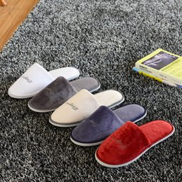Wholesale Quality non disposable slippers white black cotton slip resistant indoor women men adults custom luxury hotel slippers SPA home springwinter