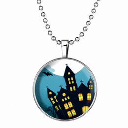 2015 Steampunk Fire Glow in the Dark necklaces Glowing Shadow Pendant Necklace Stainless Steel Chain Halloween necklace