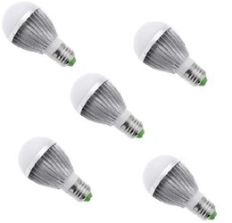 Wholesale 85 V high power W W Aluminum Shell led bulb LED kitchen light free ship With UL led Driver w Acrylic material