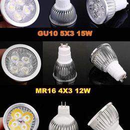 GU10 E27 LED Bulbs 9W 12W 15W Dimmable Bulbs E27 GU10 MR16 E14 B22 GU5.3 Warm Pure Cool White Led Light Lighting