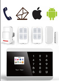 Wholesale IOS Android APP Wireless GSM PSTN alarm Dual Net Auto Dial Home Security Voice Burglar Alarm System LCD Touch keypad