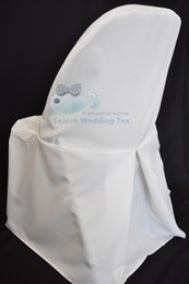 Wholesale 100 Polyester Poly Folding Chair Cover With Pleat For Wedding Chair Cover For Folding Chair