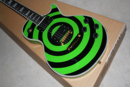 Wholesale High Quality Custom Shop Zakk Wylde EMG Pickup bullseye Green & Black Electric Guitar