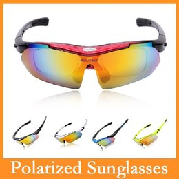 Wholesale New UV400 Polarized Sunglasses Safety Eyewear Goggle for Bicycle Riding Open air Activities Detachable Universal Len Colors Choice
