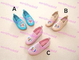 Brand New 3 Color Girl Frozen princess paillette Shoes 2015 new Children Lovely Cartoon Elsa and Anna pu antiskid Casual Shoes