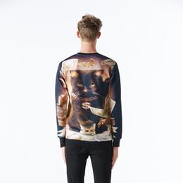 Wholesale Andy Nice model hoodies for men women d sweatshirt funny print big dollars cat and golden flowers sports hoodies autumn tops