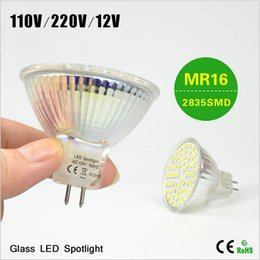 BEST Selling 1X High Quality Class A++ Heat Resistant Glass LED Spotlight Bulb 110V 220V 12V MR16 7W LED lamp 2835 SMD For Indoor lighting