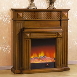 Wholesale High end European style carved fireplace meter decorative antique white with dark wood walls