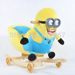 Wholesale Baby rocking horse minions dinosaur rocking chair dual use baby bassinet with music children toy
