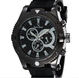 Hommes robe gros de montre en Ligne-Vente en gros chaude V6 mode cadran de vitesse Quartz hommes Montre sport Montre Wristwatch Dropship silicone Montre Mode Hours Robe Montre CADEAU DE NOËL