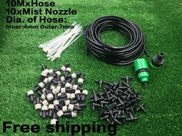 Wholesale 10m Mist Nozzle Outdoor Garden Misting Cooling System Plastic Mist Nozzle Sprinklers