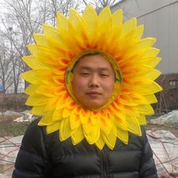 42cm 45cm Artificial Silk Sunflower Multilayer Party Mark Flowers Funny Props for Chiristmas Halloween Festival Kindergarten Dance Kids Gift