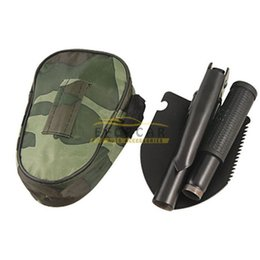 Wholesale hot sale good quality Mini Multi function ARMY FOLDING SHOVEL SPADE STEEL PICK AXE CAMPING TOOL SMALL GARDEN DIGGING