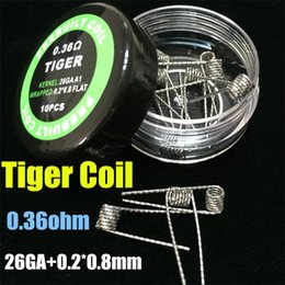 High-Quality Fused Clapton Coils Mix Twisted Flat Twist Wire Heating Coils DIY Pre-made Quad Tiger Alien Hive Round & Flat Coils for RDA RBA