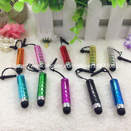 Stylus Pen Mini Bullet Stylus Pen Glitter Capacitive Screen Touch Pen For iPhone 6 plus ipad Samsung S6 Cell Phone + Dust Plug