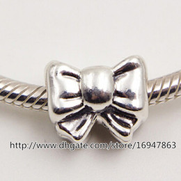 New 100% S925 Sterling Silver Thread Bow Charm Bead Fits European Pandora Jewelry Bracelets Necklaces & Pendant