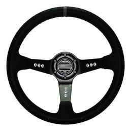 Wholesale 14 quot MM Car styling Steering Wheel Leather Drifting Steering Wheel Inch Steering Wheel Deep Corn Dish