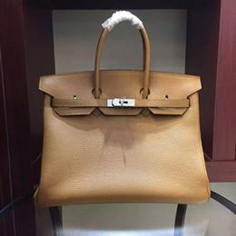 soft handfeel cowhide genuine leather 35cm length medium large handbag OL style business bag travel bag Fashion Brand New designer handbag
