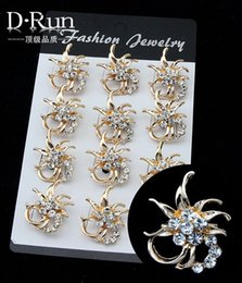 Wholesale Small Silver Cross Sterling - Free postage 2016 new party dress rhinestone alloy flowers small collar pin brooch pin small exclusive sales
